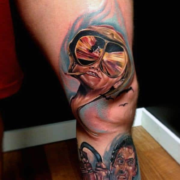 3d Hunter S Thompson Tattoo Design Ideas For Men