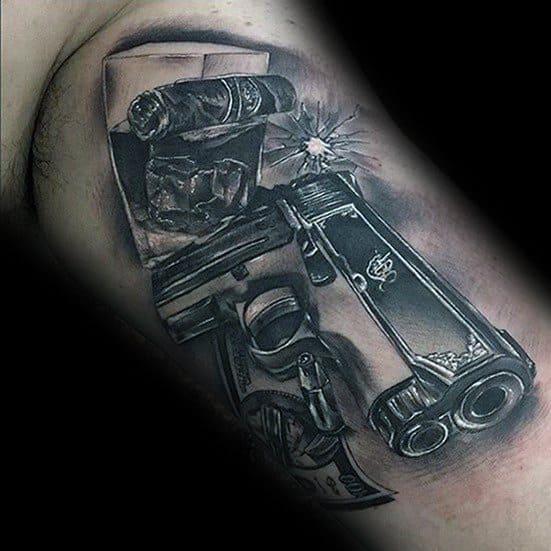 3d Hyper Realistic Tattoo 1911 Designs For Men