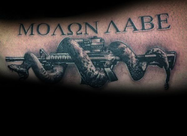 3d Impressive Male Ar 15 Tattoo Designs On Forearm