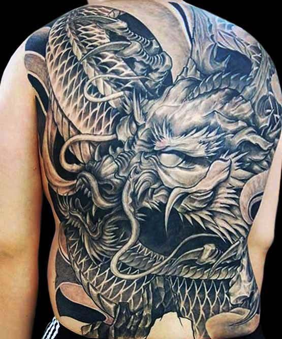 90 japanese dragon tattoo designs for men manly ink ideas. Black Bedroom Furniture Sets. Home Design Ideas