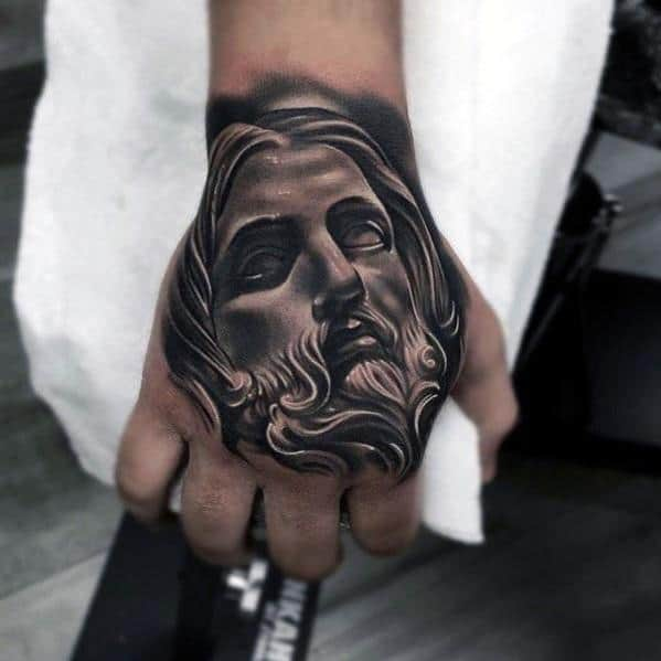 3d Jesus Guys Tattoo Ideas On Hand