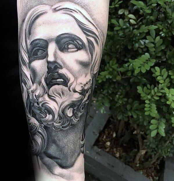 3d Jesus Portrait Guys Catholic Forearm Tattoo