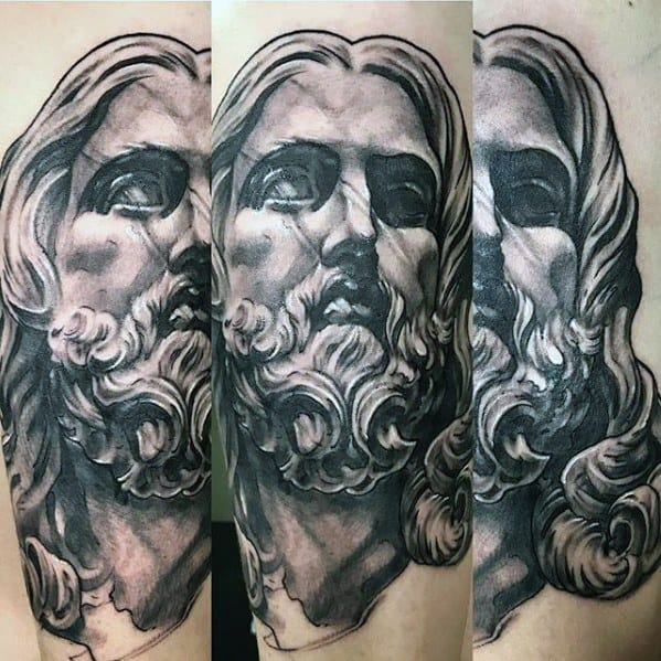 3d Jesus Tattoo On Men On Forearm