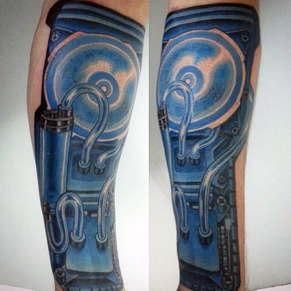 3d Leg Computer Guys Tattoo Designs