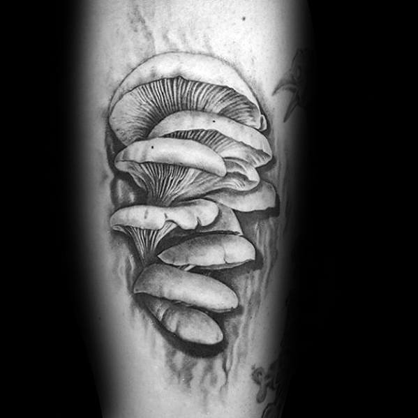 3d Leg Guys Tattoo Ideas Mushroom Designs