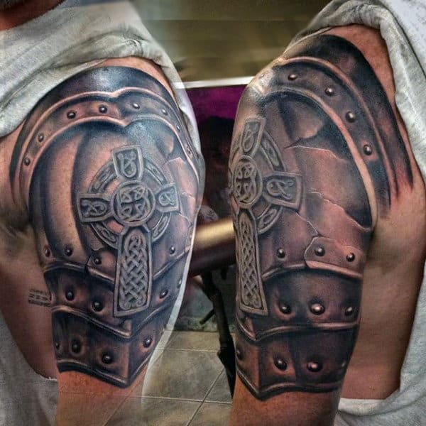 3D Arm Battle Tattoo For Men