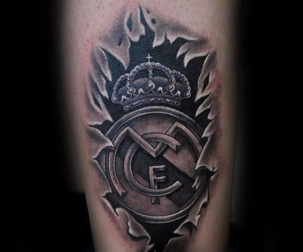 3d Legs Real Madrid Tattoos Men