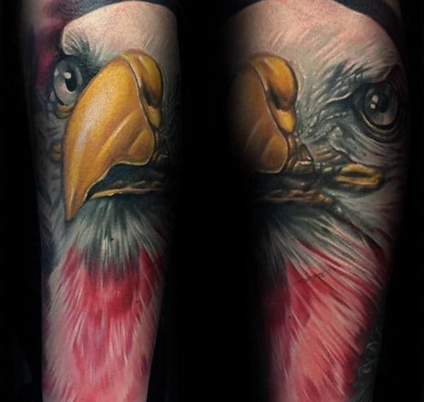 3d Male Polish Eagle Forearm Sleeve Tattoos