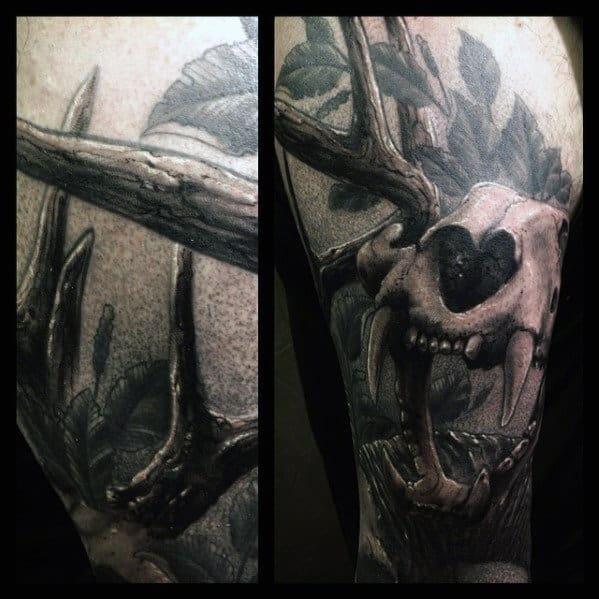 50 bear skull tattoo designs for men