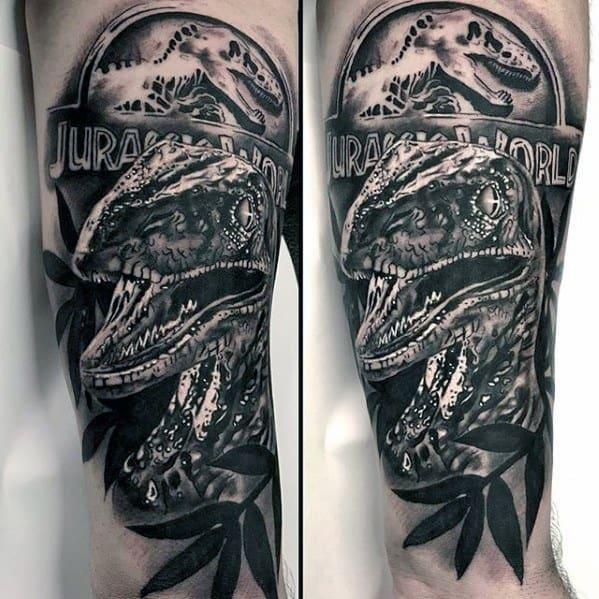 3d Mens Dinosaur Jurassic Park Tattoo Ideas For Males