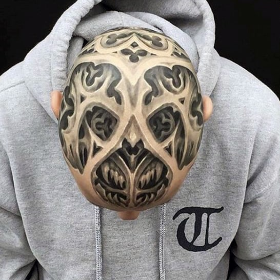 3d Mens Head Tattoo Design Ideas