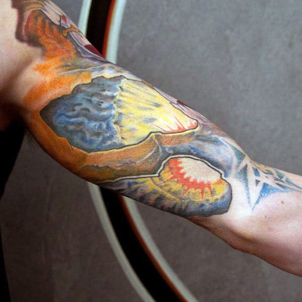 3d Mens Inner Arm Tattoo Design