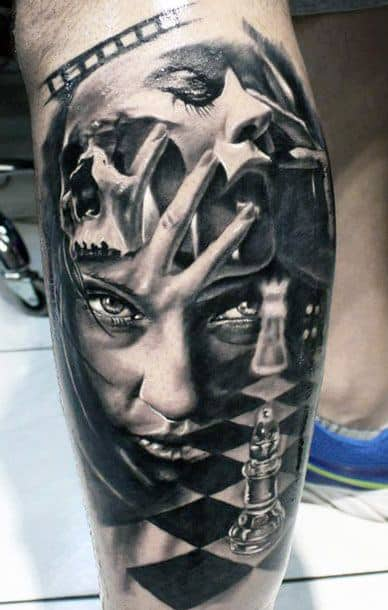 3D Men's Leg Tattoos