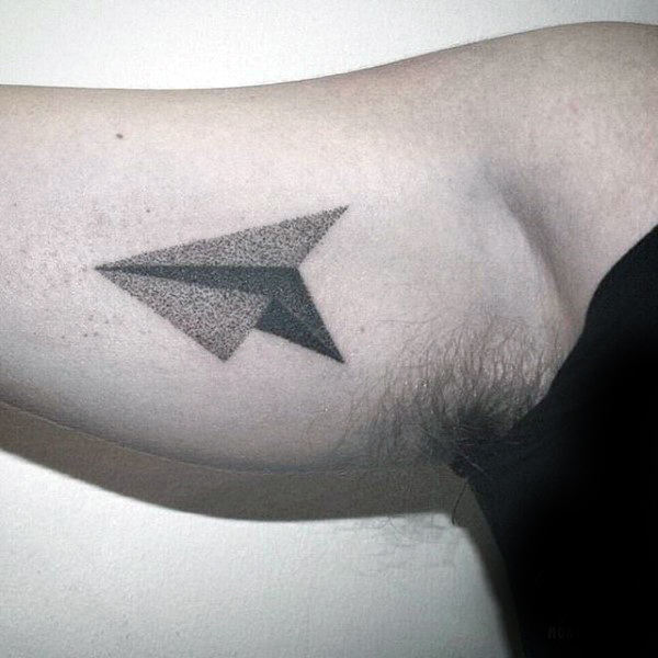 Minimalist Paper Airplane Tattoo Tatto Couples Ideas