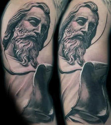 40 st jude tattoo designs for men religious ink ideas. Black Bedroom Furniture Sets. Home Design Ideas