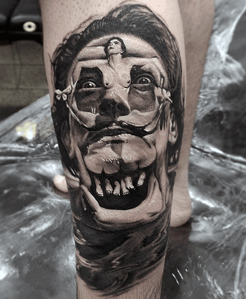 3d Mens Tattoo With Surrealism Design