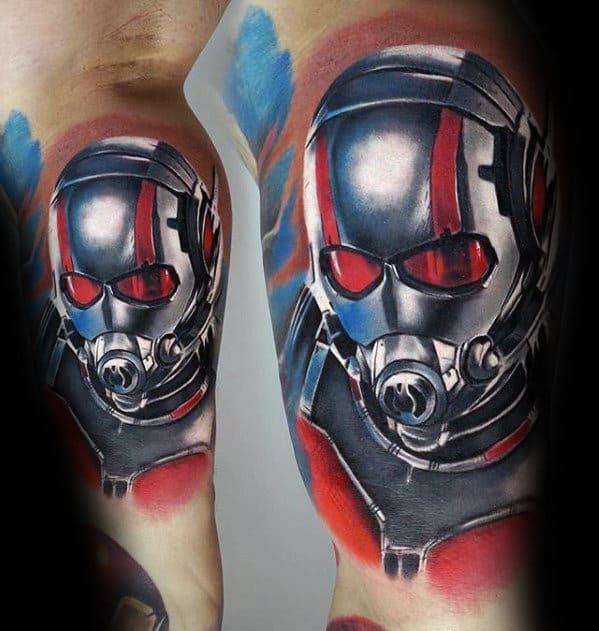 3d Metallic Guys Marvel Inner Arm Bicep Tattoo Ideas