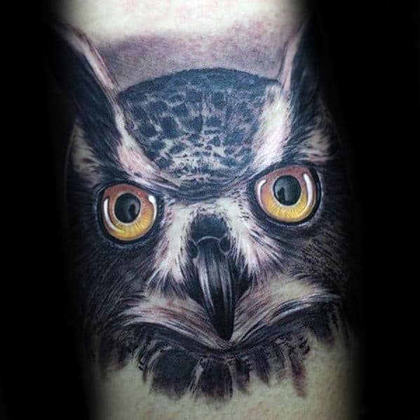 40 Owl Forearm Tattoo Designs For Men Feathered Ink Ideas