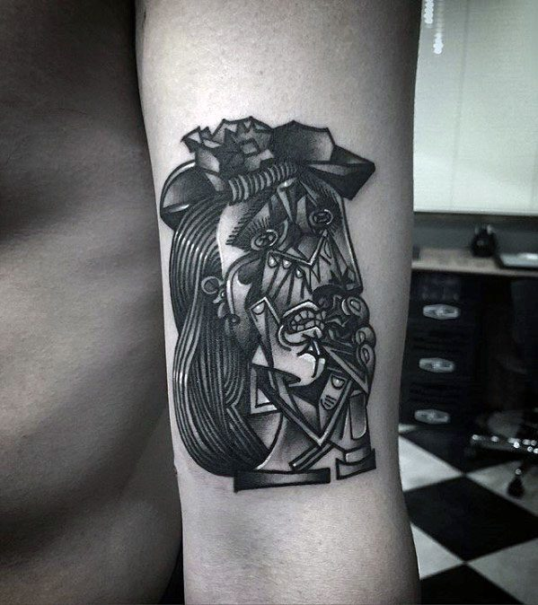 3d Pablo Picasso Tattoo Ideas On Guys On Arm