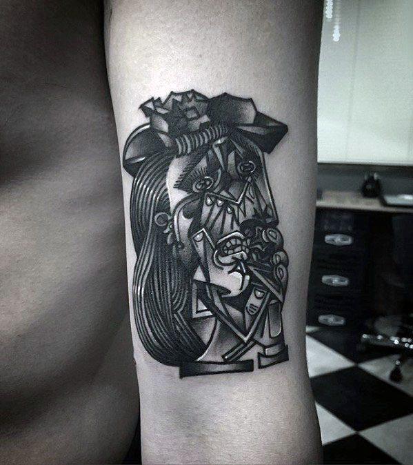 60 pablo picasso tattoos for men artistic design ideas for Picasso tattoo artist