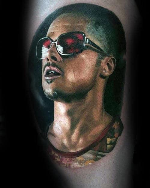 3d Realistic Fight Club Tyler Durden Mens Tattoo Ideas