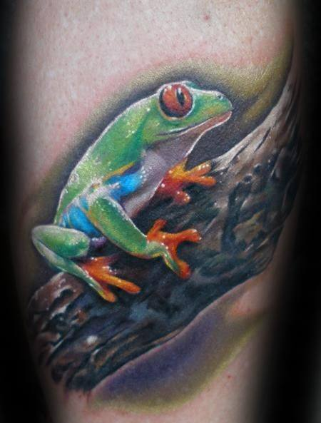 3d Realistic Forearm Creative Tree Frog Tattoos For Men