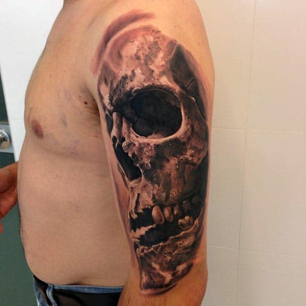 3d Realistic Guys Cool Arm Tattoo Ideas