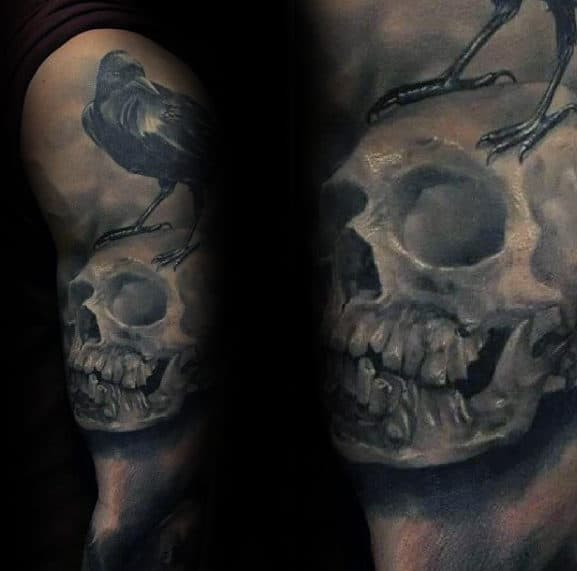 3d Realistic Mens Expendables Themed Sleeve Tattoo