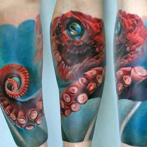 Realistic Octopus Tattoo 50 Octopus Sleeve Tatt...