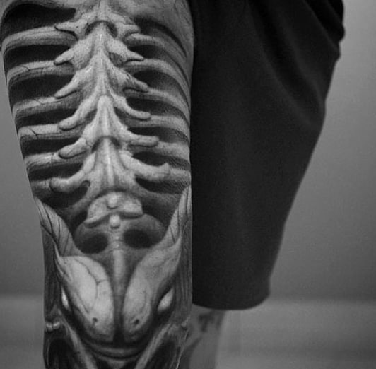3D Realistic Tattoo Skeleton Guy