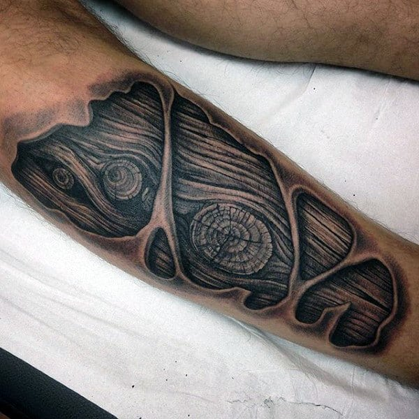 Wood carving tattoo designs for men masculine ink ideas