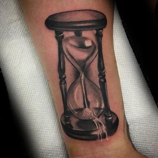Hourglass Tattoo Hourglass And Tattoos And: 30 Broken Hourglass Tattoo Designs For Men