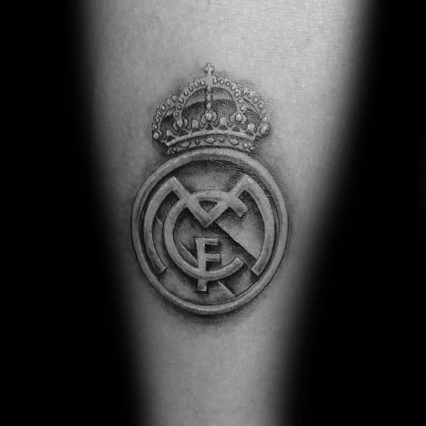 3d Small Arm Mens Cool Real Madrid Tattoo Ideas