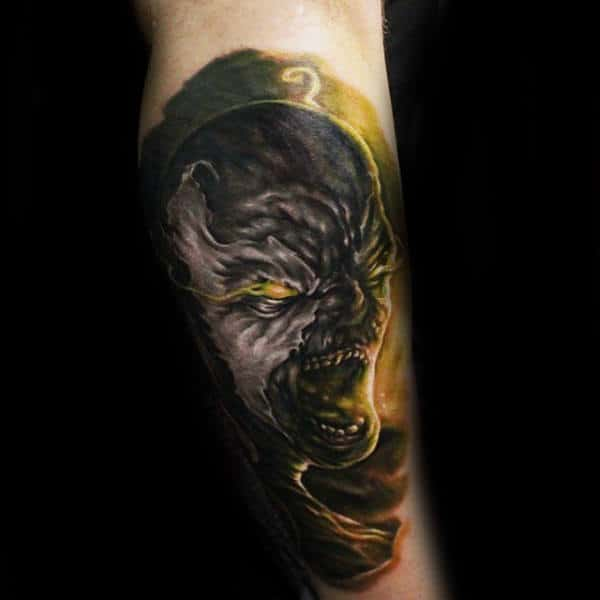 3d Spawn Male Leg Tattoo