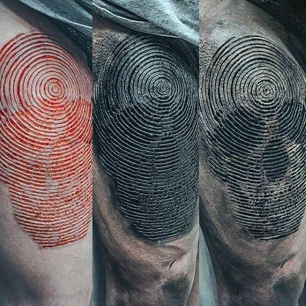 3d Spiral Detailed Mens Skull Arm Tattoo