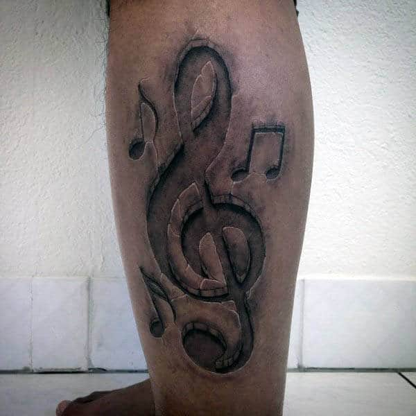 80 treble clef tattoo designs for men musical ink ideas for 3d stone tattoo design