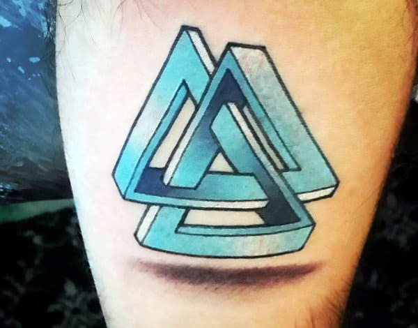 Triangle 3D Tattoo Designs For Men