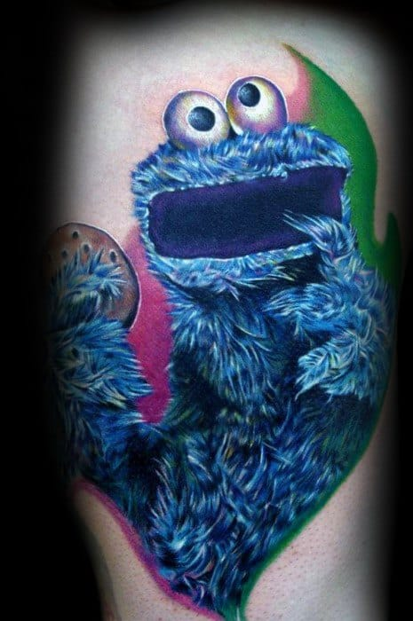 6c042d471f912 30 Cookie Monster Tattoo Designs For Men - Muppet Ink Ideas