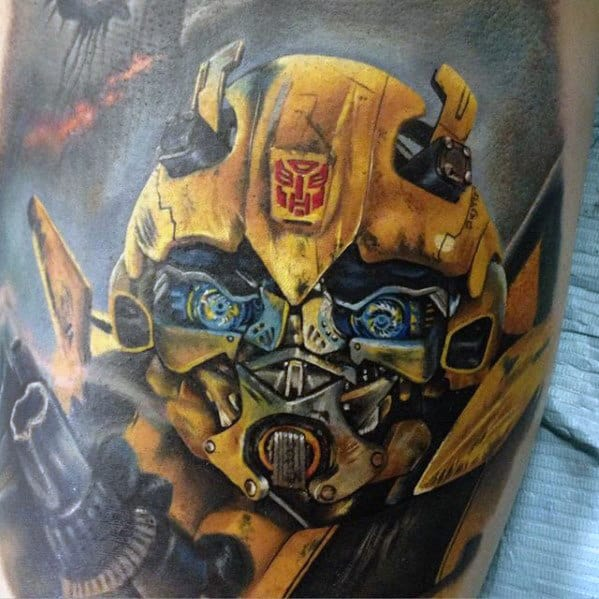Bumblebee Transformer Tattoo Designs