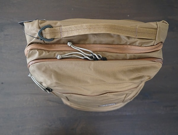 43 Liter Coyote Travel Backpack Mystery Ranch Top View