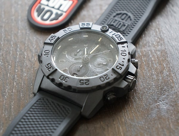 45mm Unidirectional Rotating Bezel Luminox Navy Seal Chronograph Mens Watch