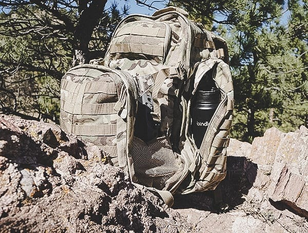 5 11 Rush72 Tactical Backpack With Side Pocket Bindle Bottle