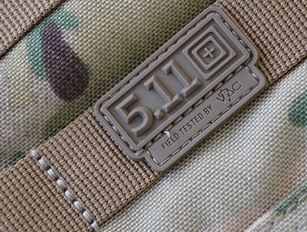 5 11 Tactical Rubber Logo Detail Rush72 Backpack