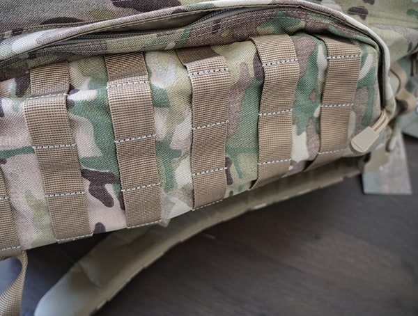 5 11 Tactical Rush72 Backpack Side Compartment Zippered Closed