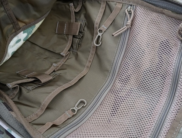 5 11 Tactical Rush72 Front Backpack Compartment Open With Mesh Pockest