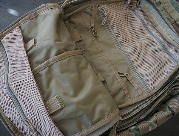 5 11 Tactical Rush72 Front Compartment Inside With Key Hangers And Mesh Pockets