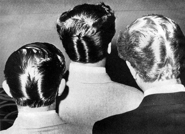 50s Masculine Duck Tail Hair Style For Males