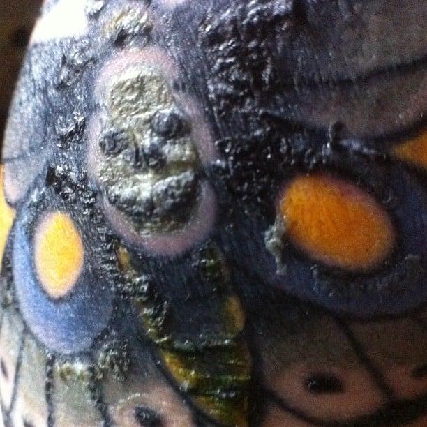 Scabbing Color Tattoo
