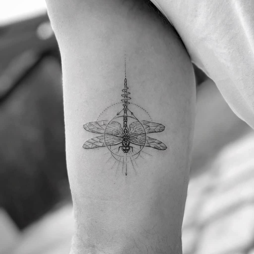 The geometric inspired dragonfly tattoo just apt for the next tattoo, if you want one!