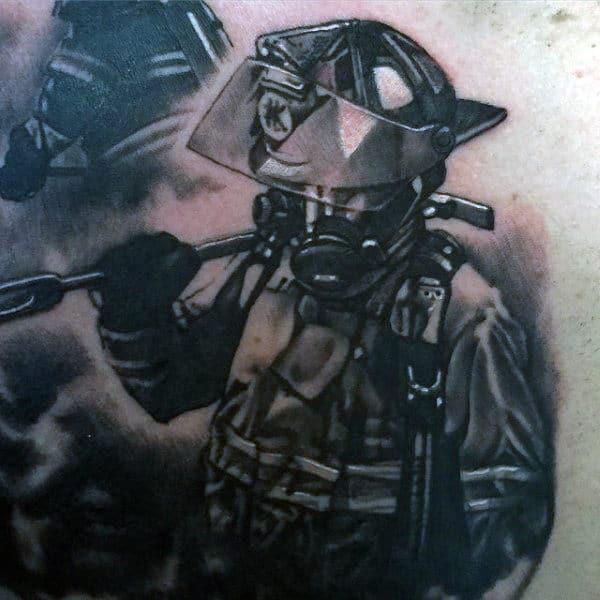 9-11 Fallen Firefighter Tattoo For Guys